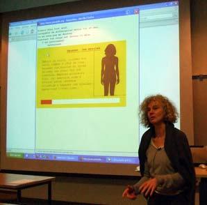 lecture by Annie Abrahams UQAM Montréal