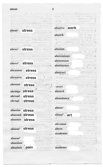 dictionary stress