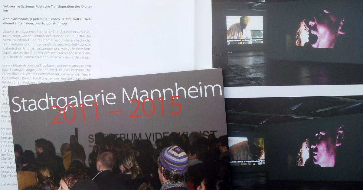 catalog Stadtgalerie Mannheim
