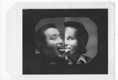 Nam June Paik Shirley Clarke Kissing - David Cort installation.